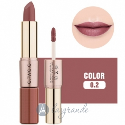 O.TWO.O Move Heart Long-wearing 2-in-1 Matte Lipgloss & Lipstick Матовая помада и блеск для губ 2в1